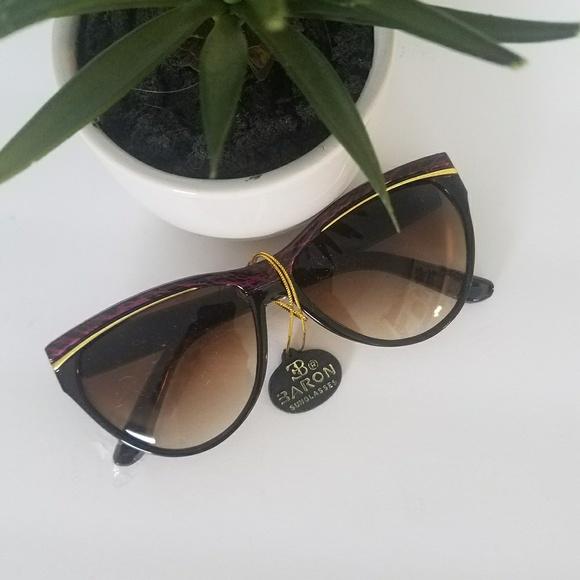 NOS Vintage 80s Oversized Sunglasses Sunnies ab0f4e7704